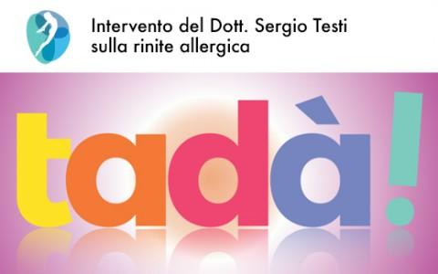 Intervento dello specialista in allergologia dell'Istituto Palloni su RTV38